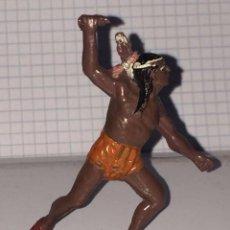 Figuras de Goma y PVC: FIGURA INDIO TEIXIDO, REALIZADO EN GOMA, AÑOS 50, MIDE 6,5 CMS.. Lote 72211899