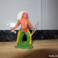 Figuras de Goma y PVC: FIGURA PVC SOTORRES ASALTO A LA DILIGENCIA INDIO . Lote 72278515