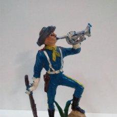 Figuras de Goma y PVC: SOLDADO FEDERAL YANKEE TROMPETA . REALIZADO POR PECH . AÑOS 60. Lote 72363875