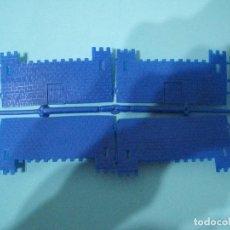 Figuras de Goma y PVC: MONTAPLEX- COLADA CASTILLO MEDIAVAL-NUMERO 123-RARO!!!! COLOR AZUL. Lote 72394643