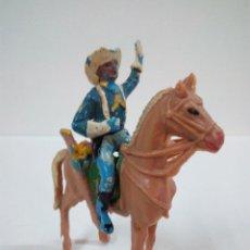 Figuras de Goma y PVC: SOLDADO FEDERAL YANKEE A CABALLO . REALIZADO POR PECH . AÑOS 60. Lote 72437331