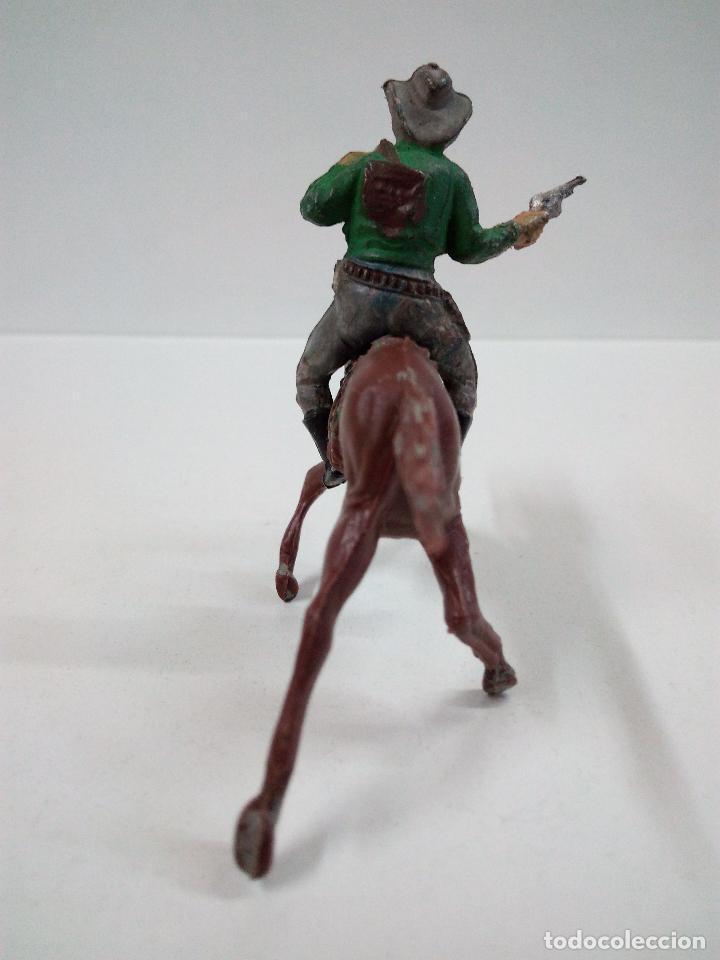 Figuras de Goma y PVC: VAQUERO BANDIDO - ATRACADOR A CABALLO . REALIZADO POR PECH . AÑOS 50 EN GOMA - Foto 4 - 72910683