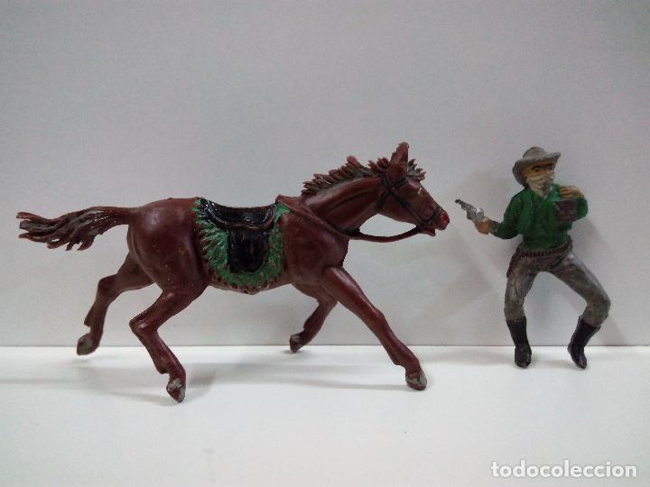 Figuras de Goma y PVC: VAQUERO BANDIDO - ATRACADOR A CABALLO . REALIZADO POR PECH . AÑOS 50 EN GOMA - Foto 5 - 72910683