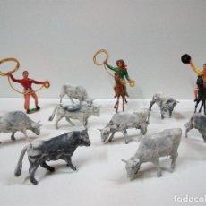 Figuras de Goma y PVC: ARREO DE GANADO Y FIGURAS COMANSI . . Lote 73435079
