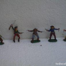 Figuras de Goma y PVC: VAQUEROS DE PECH. Lote 73467655