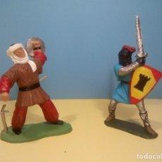 Figuras de Goma y PVC: MORO Y CRISTIANO MEDIEVALES. Lote 73723283