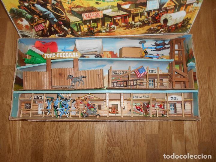 Figuras de Goma y PVC: MINIOESTE COMANSI TODO EL OESTE AMERICANO BILLY EL NIÑO CAJA ORIGINAL EXTRAS AÑOS 60 70 C MADERA - Foto 2 - 73805031