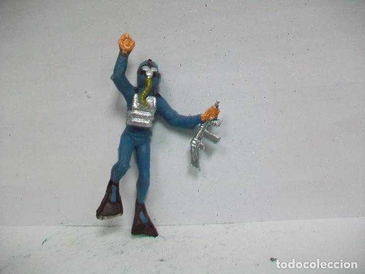 FIGURA BUZO - SUBMARINISTA JECSAN (Juguetes - Figuras de Goma y Pvc - Jecsan)