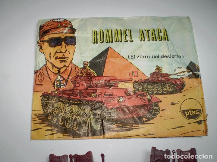 Figuras de Goma y PVC: LOTE MONTAPLEX - SOBRE Nº 1005 ROMMEL ATACA VACÍO CON SU CONTENIDO ORIGINAL - Foto 3 - 74165255