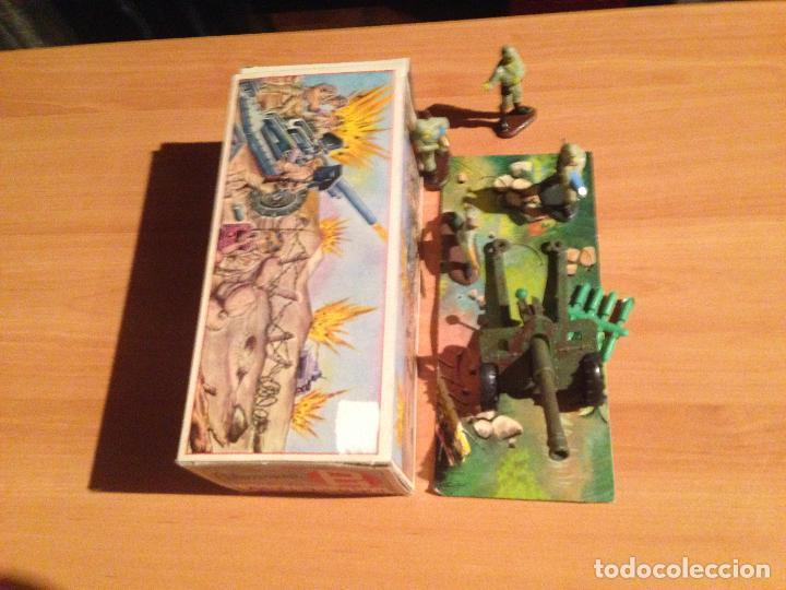Figuras de Goma y PVC: ANTIGUO CAÑON ANTI TANQUE JAPONES JAPONESES JUGUETE PECH + FIGURAS SERVIDORES EN CAJA ORIGINAL. - Foto 4 - 74475755