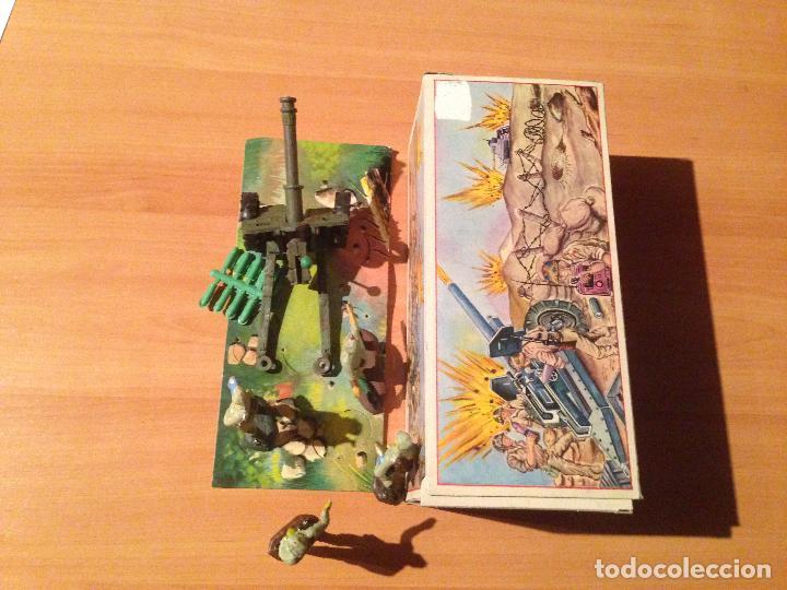 Figuras de Goma y PVC: ANTIGUO CAÑON ANTI TANQUE JAPONES JAPONESES JUGUETE PECH + FIGURAS SERVIDORES EN CAJA ORIGINAL. - Foto 6 - 74475755