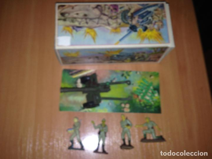 Figuras de Goma y PVC: ANTIGUO CAÑON ANTI TANQUE JAPONES JAPONESES JUGUETE PECH + FIGURAS SERVIDORES EN CAJA ORIGINAL. - Foto 7 - 74475755
