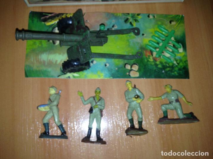 Figuras de Goma y PVC: ANTIGUO CAÑON ANTI TANQUE JAPONES JAPONESES JUGUETE PECH + FIGURAS SERVIDORES EN CAJA ORIGINAL. - Foto 8 - 74475755