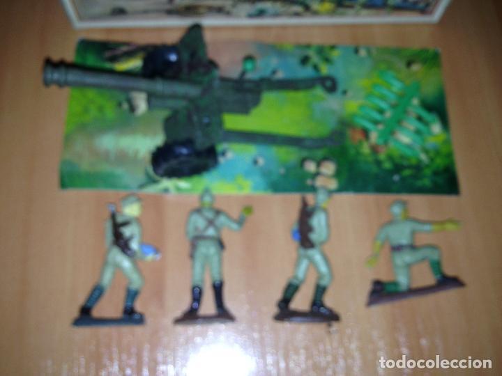 Figuras de Goma y PVC: ANTIGUO CAÑON ANTI TANQUE JAPONES JAPONESES JUGUETE PECH + FIGURAS SERVIDORES EN CAJA ORIGINAL. - Foto 9 - 74475755