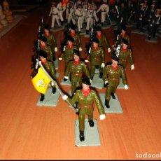 Figuras de Goma y PVC: SERIE COMPLETA 12 FIGURAS SOLDADOS PLASTICO PARACAIDISTAS SOLDIS GOMARSA . Lote 74627431