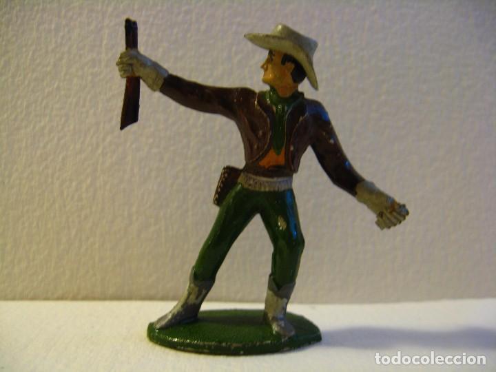VAQUERO COWBOY EN PIE, DE SOTORRES, GOMA, AÑOS 50 (Juguetes - Figuras de Goma y Pvc - Sotorres)