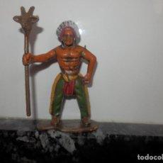 Figuras de Goma y PVC: FGURAS DE PVC OESTE VAQUEROS INDIOS DIORAMA . Lote 74986975