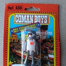 Figuras de Goma y PVC: ASTRONAUTA COMAN BOYS SERIE ESPACIO REF 630 EN SU BLISTER A ESTRENAR DE COMANSI. Lote 75041387