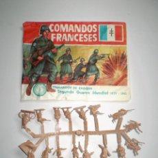 Figuras de Goma y PVC: MONTAPLEX SOBRE COMANDOS FRANCESES VACÍO + 1 COLADA DE SOLDADOS FRANCESES. Lote 127558904