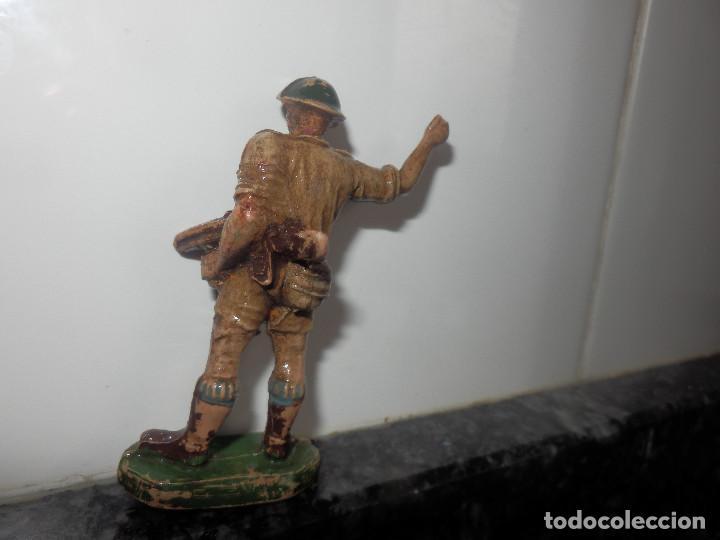 Figuras de Goma y PVC: ANTIGUA FIGURA DE GOMA PECH GUERRA MUNDIAL BRITANICOS JECSAN - Foto 2 - 191815746