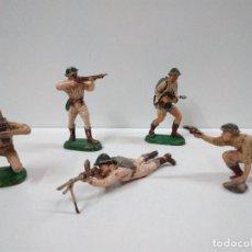 Figuras de Goma y PVC: SOLDADOS INGLESES . REALIZADOS POR PECH . AÑOS 60 EN GOMA. Lote 75513439