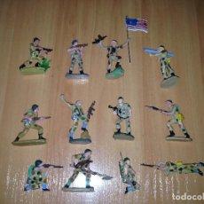 Figuras de Goma y PVC: LOTE 12 FIGURAS DIFERENTES SERIE COMPLETA AMERICANOS EN COMATE USA PECH. Lote 75529367