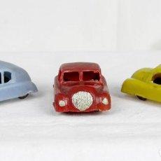 Figuras de Goma y PVC: ALCA CAPELL TRES AUTOS AÑOS 50. Lote 173939432