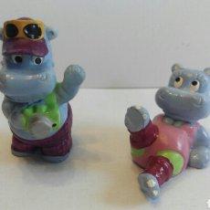 Figuras Kinder: LOTE FIGURAS HIPO HIPOPÓTAMOS KINDER AÑO 1992. Lote 75913318