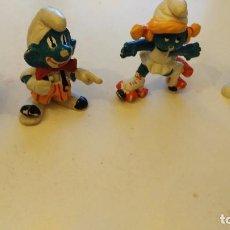 Figuras de Goma y PVC - pitufa patinadora - pitufo guitarrista - pitufo payaso - papa pitufo - 75925323