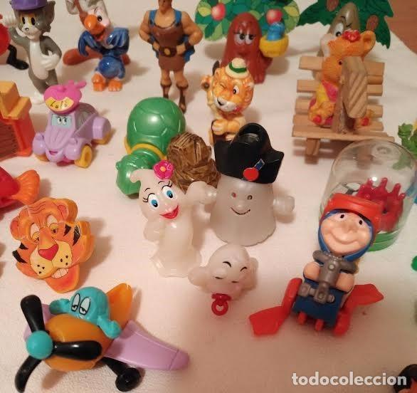 Figuras Kinder: Vintage - Lote de 78 figuras / figuritas de huevos sorpresa Kinder - Años 80/90 - Foto 2 - 75937027