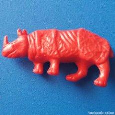 Figuras de Goma y PVC: FIGURA PLÁSTICO ANIMAL DE TITO (NO DUNKIN) RINOCERONTE ROJO ANIMALES. Lote 75966097