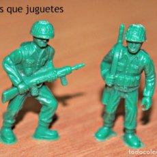 Figuras de Goma y PVC: DOS FIGURAS SOLDADOS AMERICANOS DE DUNKIN. Lote 76176703