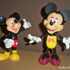 Figuras de Goma y PVC: FIGURAS MICKEY Y MINNIE MOUSE GRANDES. Lote 76177755