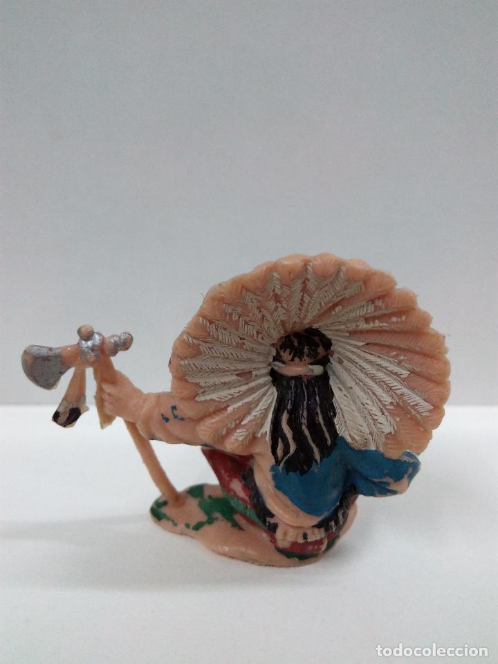 Figuras de Goma y PVC: JEFE INDIO SENTADO . REALIZADO POR REAMSA FIGURA Nº 94 . AÑOS 60 - Foto 2 - 76313623
