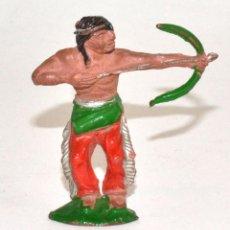 Figuras de Goma y PVC: INDIO CON ARCO LAFREDO, EN GOMA, CIRCA 1950. Lote 76570803