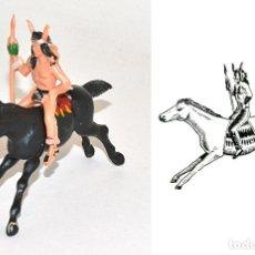 Figuras de Goma y PVC: JINETE INDIO COMANCHE A CABALLO, DE LA MARCA REAMSA, EN PLÁSTICO, Nº 32 DEL CATÁLOGO. 1970,S. Lote 76571551