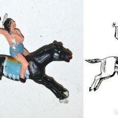 Figuras de Goma y PVC: JINETE INDIO COMANCHE A CABALLO, DE LA MARCA REAMSA, EN PLÁSTICO, Nº 3 DEL CATÁLOGO. 1970,S. Lote 76571607