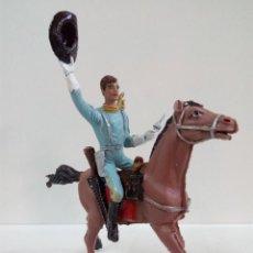 Figuras de Goma y PVC: FANTASTICO SOLDADO FEDERAL DEL 7º DE CABALLERIA . COMANSI . SERIE GRANDE . AÑOS 60. Lote 76669511