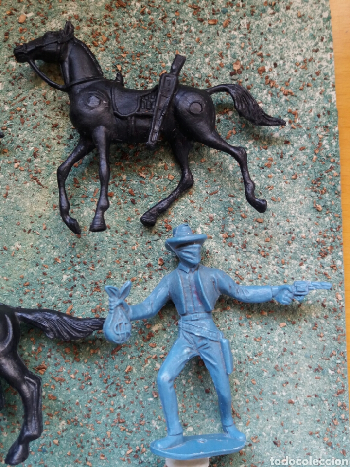 Figuras de Goma y PVC: Lote Antiguas Figuras del Oeste Comansi. Canal Pipero. Años 70. - Foto 4 - 76746785