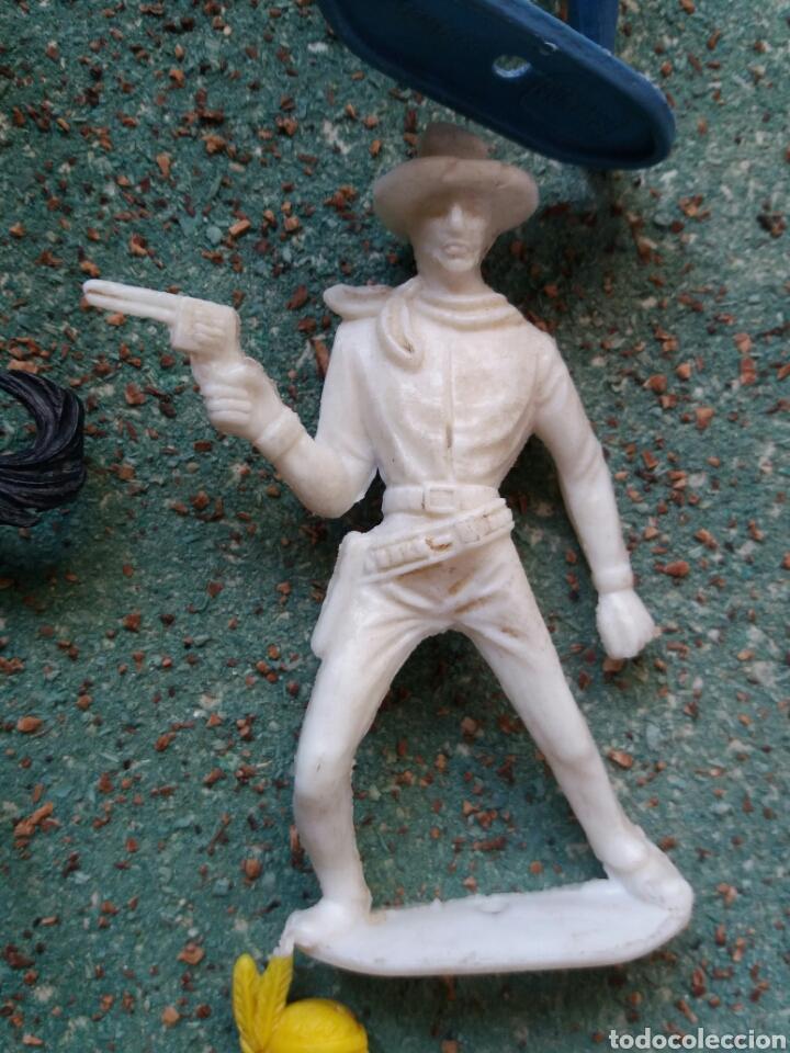 Figuras de Goma y PVC: Lote Antiguas Figuras del Oeste Comansi. Canal Pipero. Años 70. - Foto 11 - 76746785