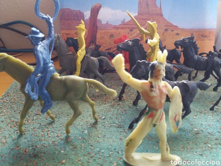 Figuras de Goma y PVC: Lote Antiguas Figuras del Oeste Comansi. Canal Pipero. Años 70. - Foto 16 - 76746785