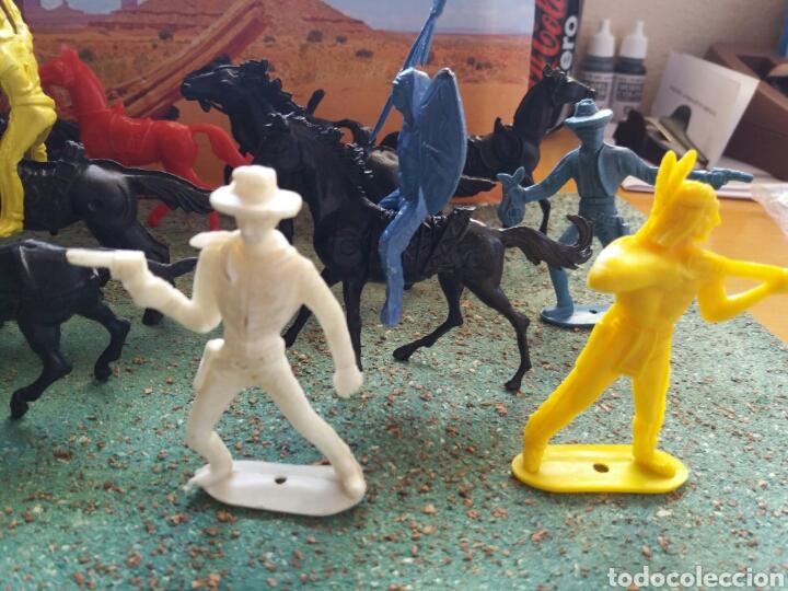 Figuras de Goma y PVC: Lote Antiguas Figuras del Oeste Comansi. Canal Pipero. Años 70. - Foto 17 - 76746785