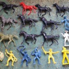 Figuras de Goma y PVC: LOTE ANTIGUAS FIGURAS DEL OESTE COMANSI. CANAL PIPERO. AÑOS 70.. Lote 76746785