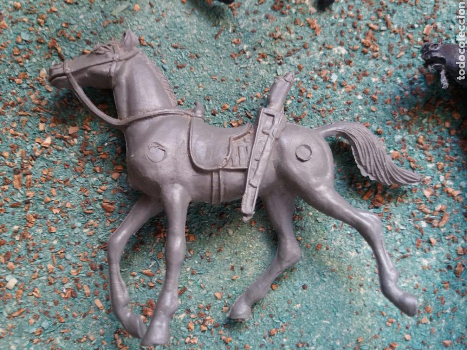Figuras de Goma y PVC: Lote Antiguas Figuras del Oeste Comansi. Canal Pipero. Años 70. - Foto 7 - 76746785