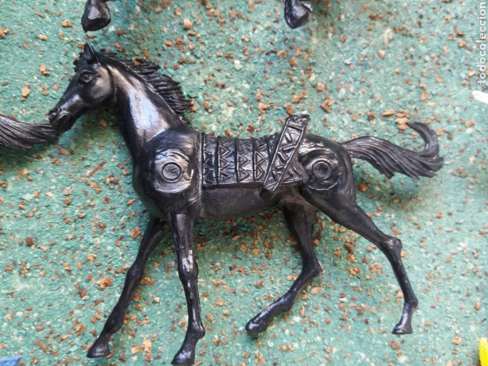 Figuras de Goma y PVC: Lote Antiguas Figuras del Oeste Comansi. Canal Pipero. Años 70. - Foto 10 - 76746785