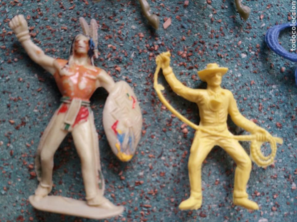 Figuras de Goma y PVC: Lote Antiguas Figuras del Oeste Comansi. Canal Pipero. Años 70. - Foto 12 - 76746785