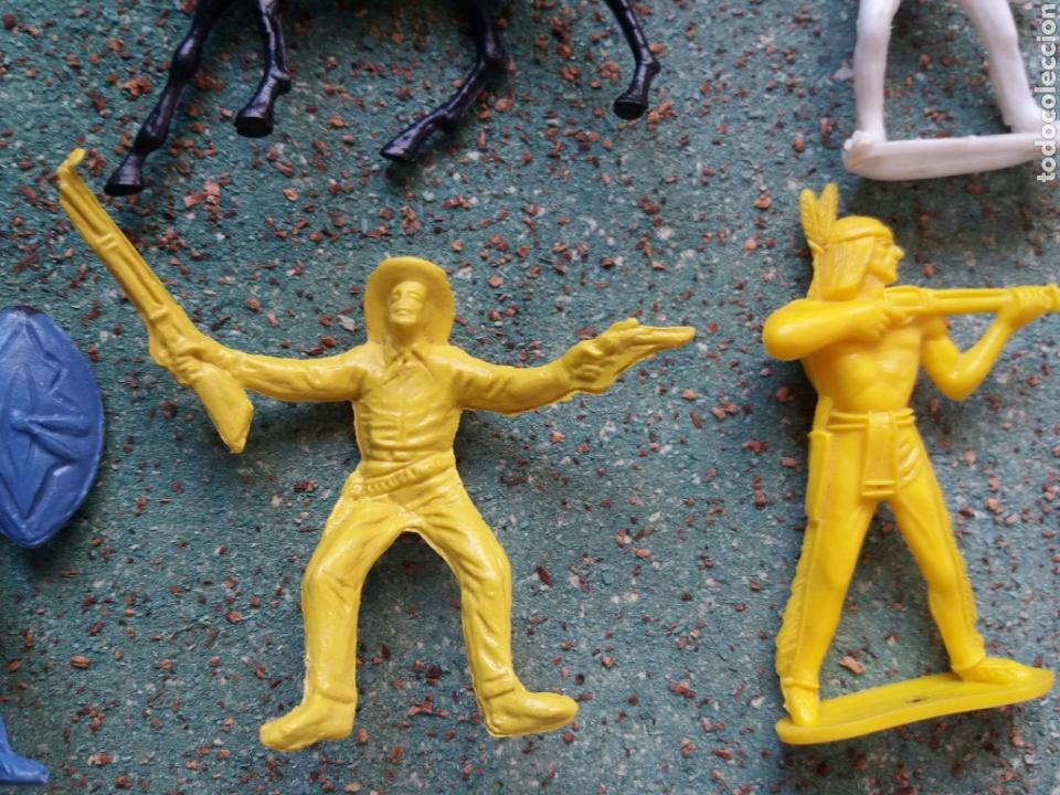 Figuras de Goma y PVC: Lote Antiguas Figuras del Oeste Comansi. Canal Pipero. Años 70. - Foto 14 - 76746785