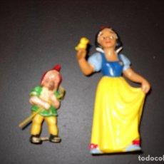 Figuras de Goma y PVC: BLANCANIEVES Y ENANITO.. Lote 76753207