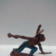 Figuras de Goma y PVC: GUERRERO INDIO . REALIZADO POR TEIXIDO . AÑOS 50 EN GOMA. Lote 76929129