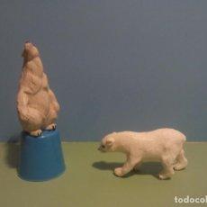 Figuras de Goma y PVC: ANTIGUAS FIGURAS OSOS POLARES DEL CIRCO JECSAN. Lote 77054537